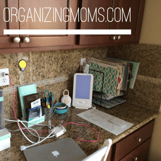 After 10 minutes of decluttering. A neater desk!