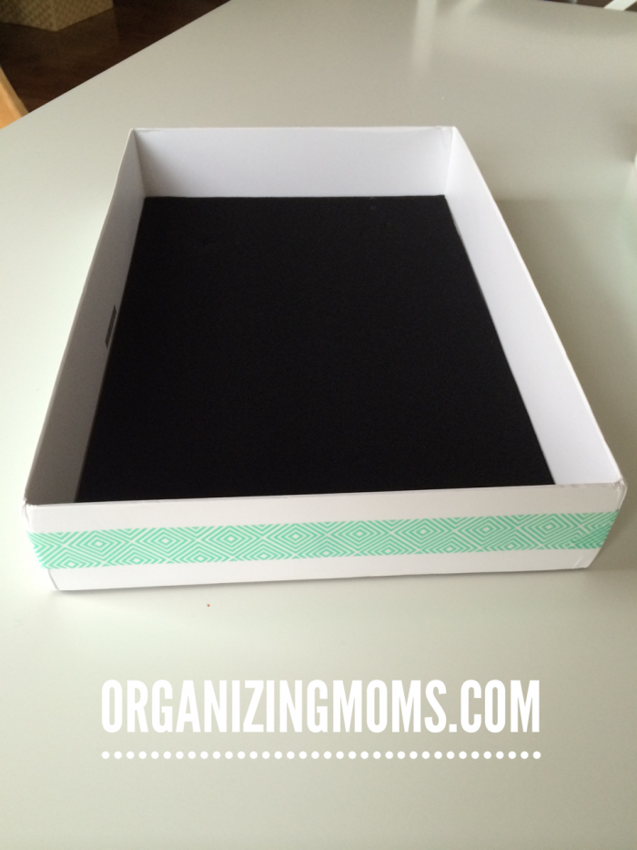 A cheap, easy organizing solution. Use your old MacBook boxes!