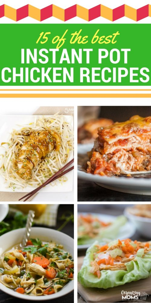 The best instant pot chicken recipes. Easy, delicious, and family friendly.
