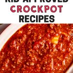 Kid approved crockpot recipes for the whole family. || crockpot | slow cooker recipes | slow cooker | meal prep | meal planning | easy dinners | easy crockpot recipes | easy slow cooker recipes | make ahead meals | one pot meals | #mealprep #crockpot #slowcooker