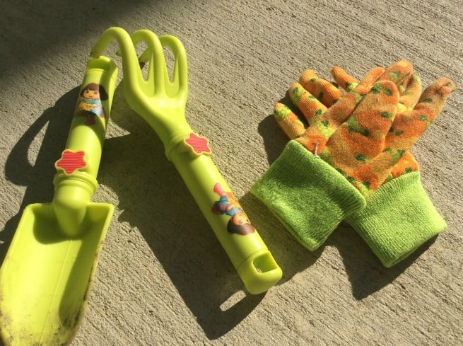 Character-themed garden tools.