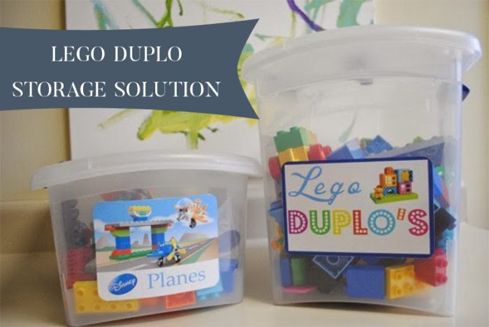 Lego Duplo Storage Solution - two sets