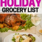 Get ready for holiday yummies by making a holiday grocery list! Buy ahead so you're not stressed at the stores last minute.