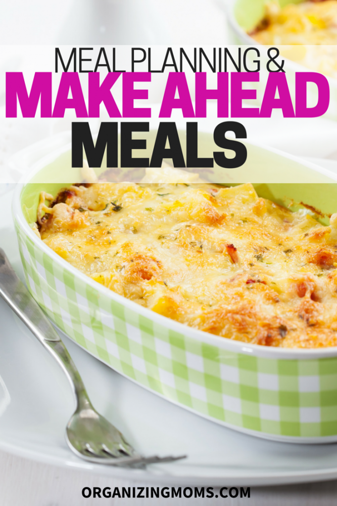 A comprehensive list of resources related to meal planning and make ahead meals.
