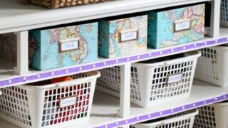 How to Organize in Style Using Dollar Store Baskets