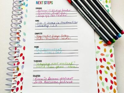 Use this Next Steps List printable to make progress towards your goals and get things done.