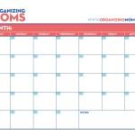 Customizable Calendar: Free Printable