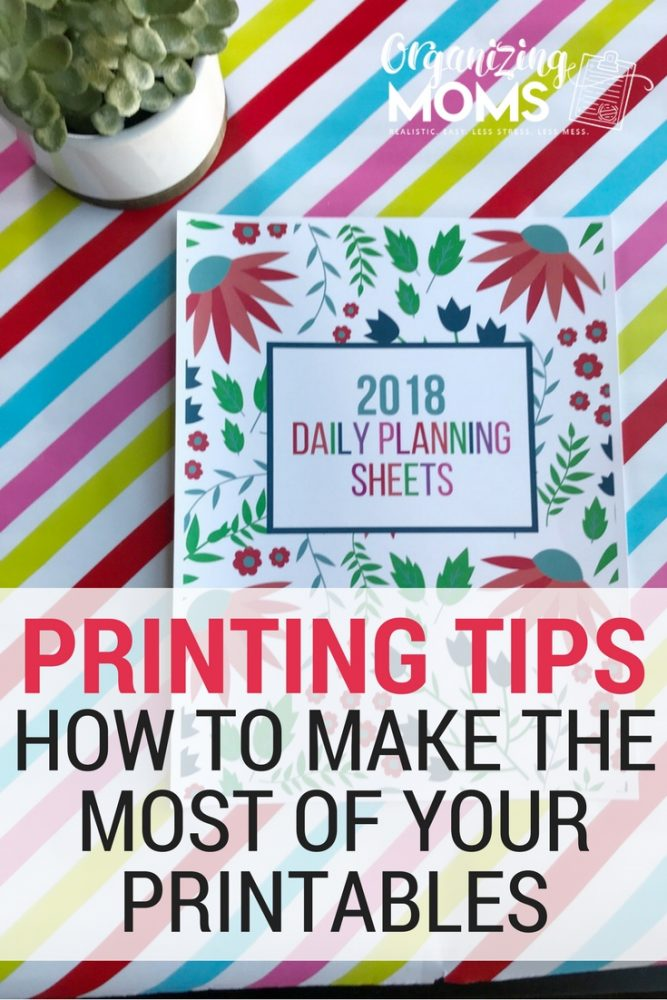 Make the most of your printables. How to save money on printing, print efficiently, and set up your printables so you can easily USE them! Printing tips for printable junkies.