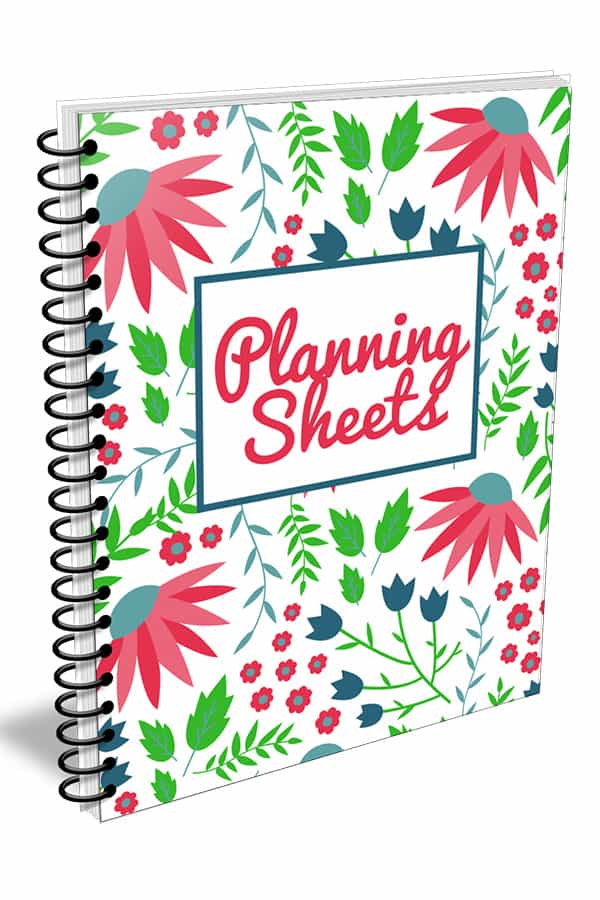 Organizing Moms Planning Sheets Cover Evergreen