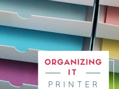 How to organize a printer and printer paper.