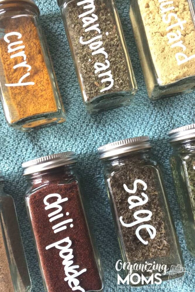 How to beautifully organize your spices. Just one of the unique ideas in our how to organize your home series.