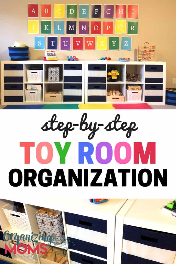 Simple instructions to help you get your toy room organized. Includes a free printable playroom clean-up checklist!