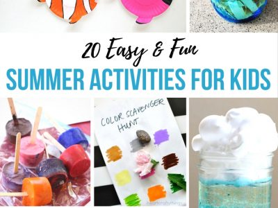 20 Easy and Fun Summer Activities for Kids. Lots of ideas to keep your summer days busy.
