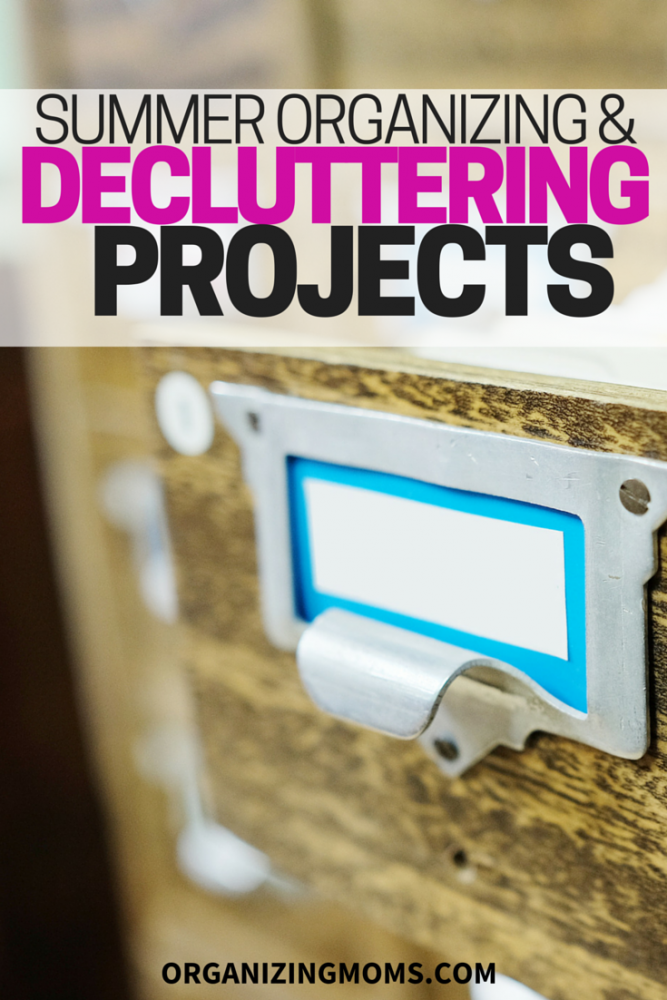 A list of summer organization and decluttering projects.