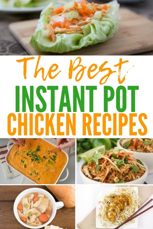 Family favorite Instant Pot chicken recipes. Meal plan in a snap with these easy, simple recipes. #instantpot #mealprep