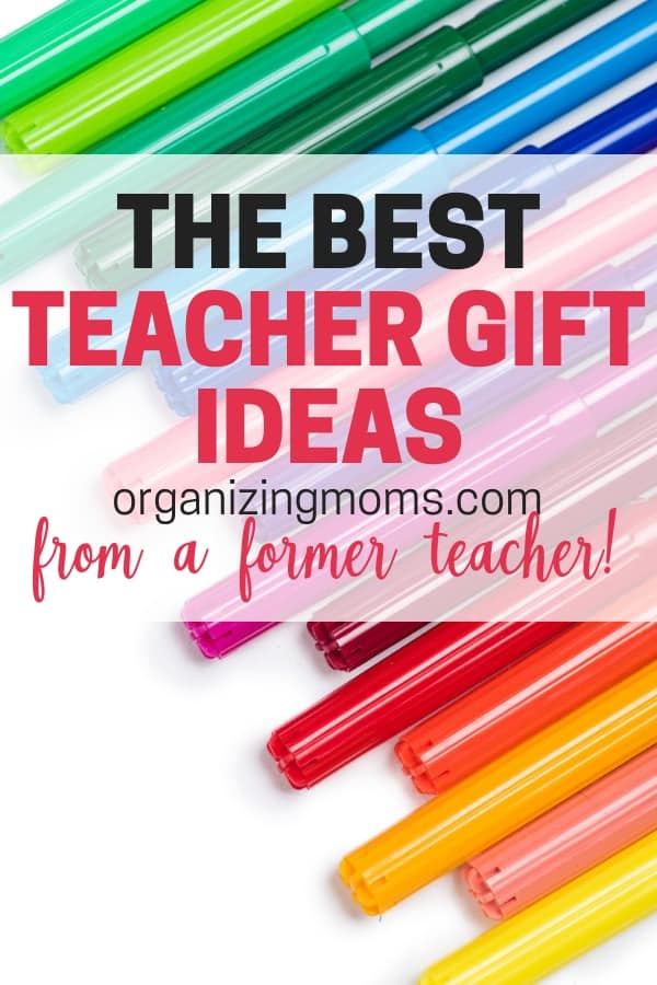 Teacher gift ideas from a former middle school teacher. Things that teachers will use and love throughout the school year. Great Christmas gift ideas for teachers too!