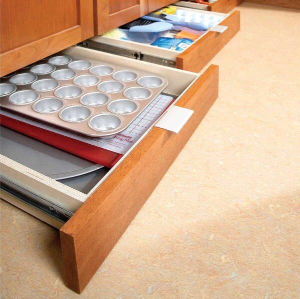 DIY under kitchen cabinet storage drawers