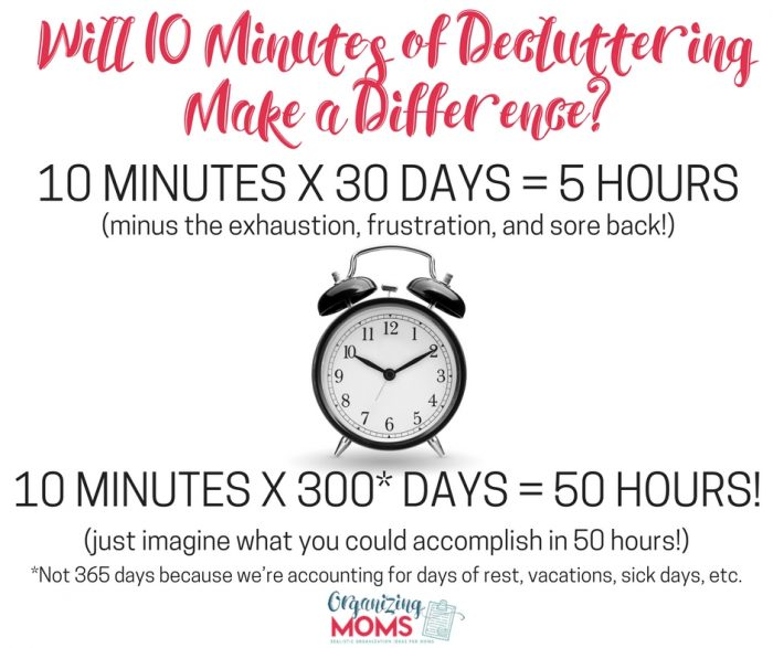 Yes! 10 minutes of decluttering each day makes a huge impact!