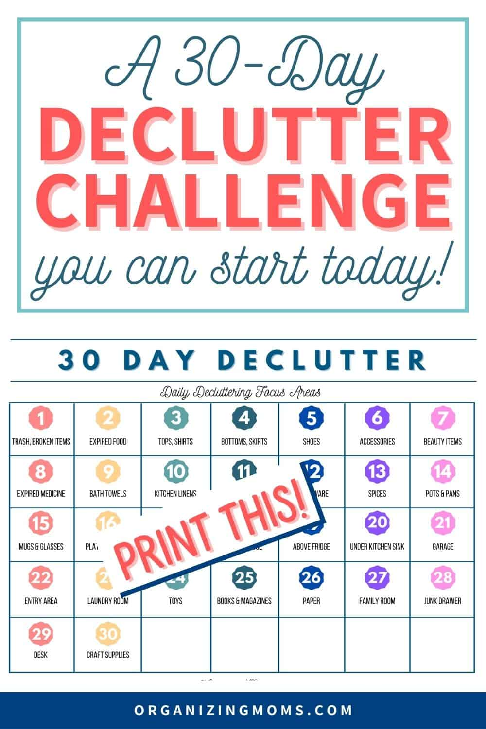 A 30 Day Declutter Challenge You Can Start Today