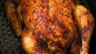 Air Fryer Whole Chicken {Whole30, Paleo}