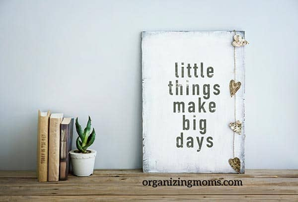 little things make big days motivation to declutter