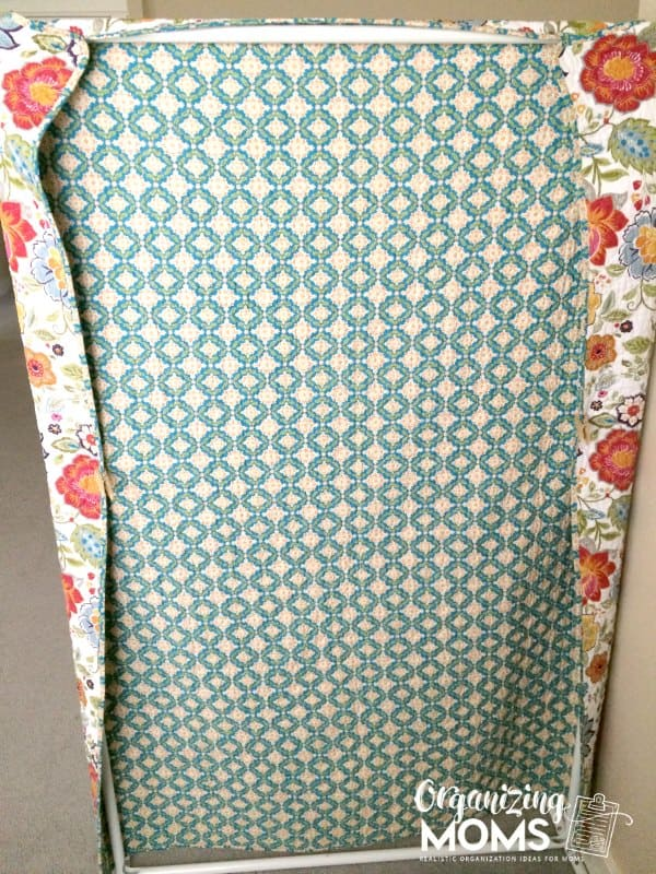The back of my DIY room divider. Not as cute as the front, but it does the trick!