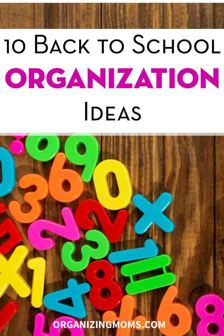 Ways to focus and get organized for the back to school season.