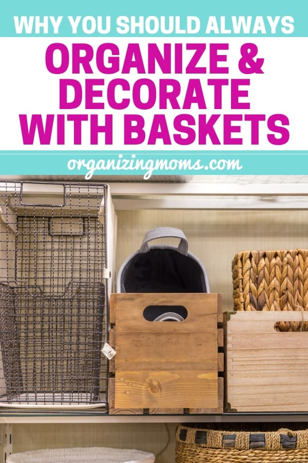 Basket organization ideas. How to use baskets for organization and make your home beautiful.