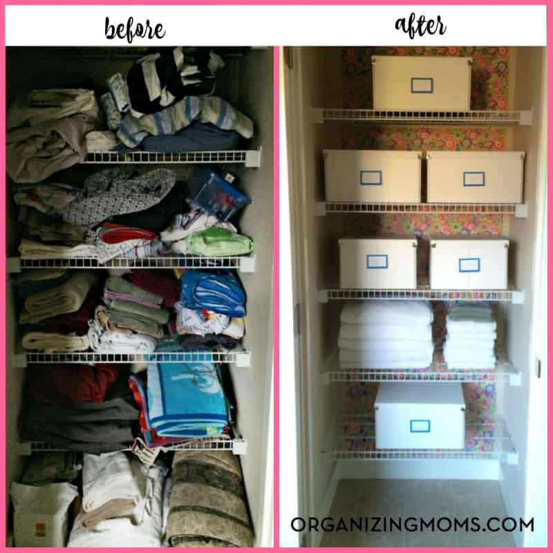 Finally, a realistic plan for organizing your linen closet on a budget. Transform your linen closet from chaos to an organized space you'll love to use.