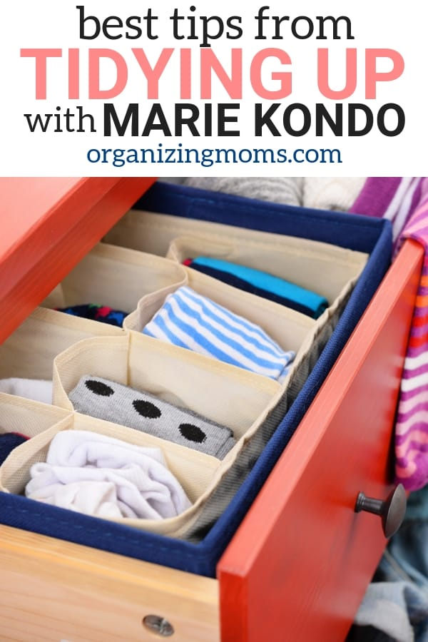 Best tips from the popular decluttering show, Tidying Up with Marie Kondo. Use the Konmari method to declutter your home.
