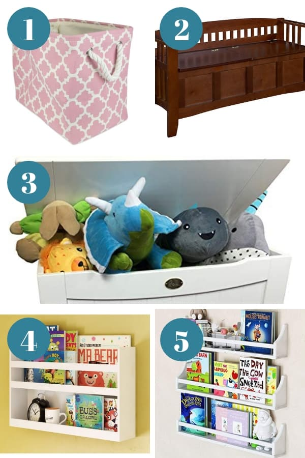 Creative toy storage ideas from Amazon that will organize your child's play area.