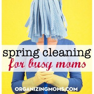 Cleaning and organizing spring challenge for moms. All tasks are 30 minutes or less. Custom-designed for busy moms.
