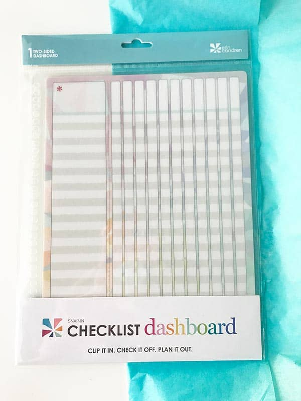 snap in checklist cashboard