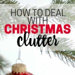 Are you drowning in Christmas clutter? Step-by-step help for dealing with Christmas clutter, remembering season, getting organized, and recovering from the inflow of stuff that happens during the holidays.