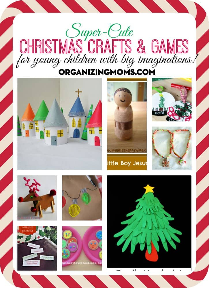 Christmas crafts and games for young children with big imaginations! Fun ideas for preschoolers, kindergarteners and beyond!