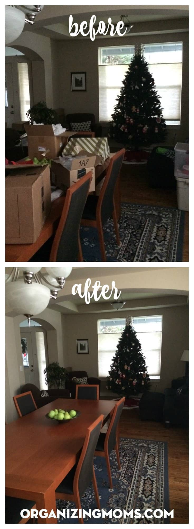 It's crazy how much you can do in 10 minutes. This is ten minutes of decluttering and tidying up Christmas decoration stuff.