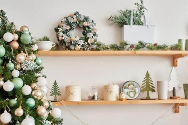 christmas decor display area