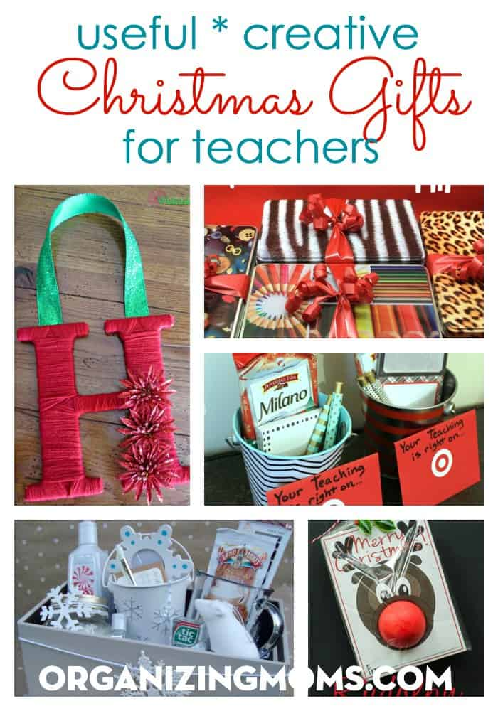 Useful, creative Christmas gift ideas for teachers. Inexpensive, thoughtful ways to show teachers you care.