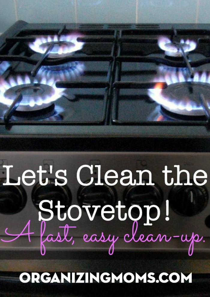 A quick, easy way to clean your stovetop and be done with it.