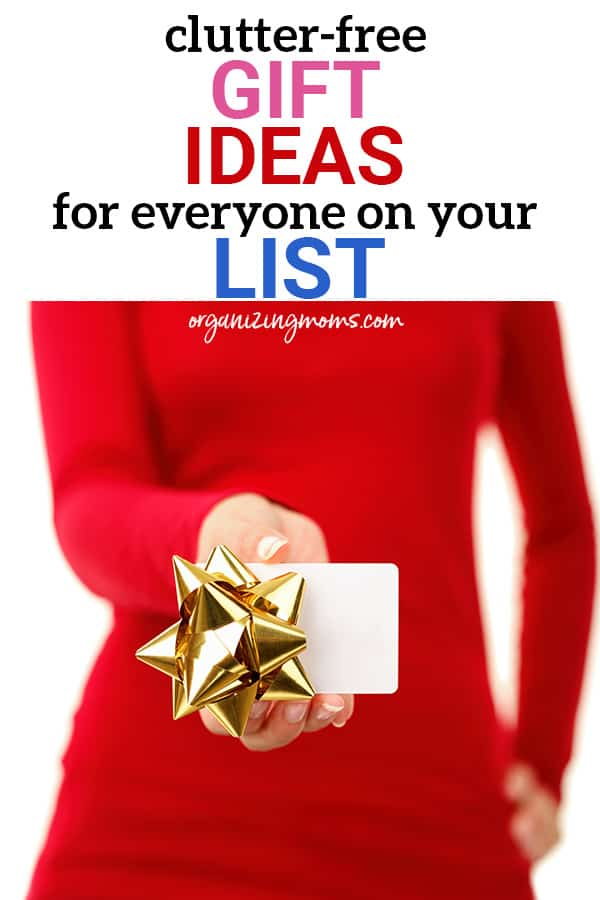 clutter free gift ideas organizing moms