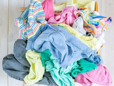 cluttered clothes