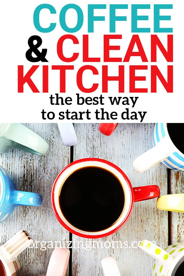 coffee and clean kitchen
