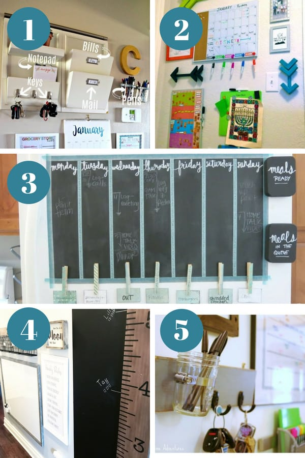 Command center ideas for the home that will get your family organized. || command center organization | kitchen command center | family command center | DIY command center | command center signs | paper organization | time management | routines | organization ideas for the home | organizing hacks #organize #commandcenter #organization