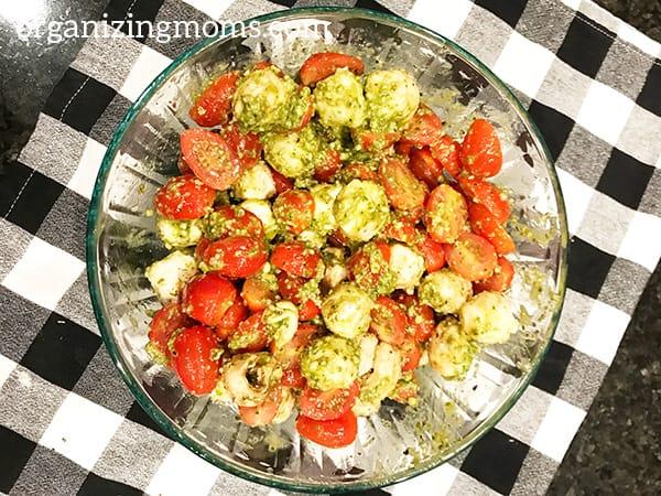 costco caprese salad mixed