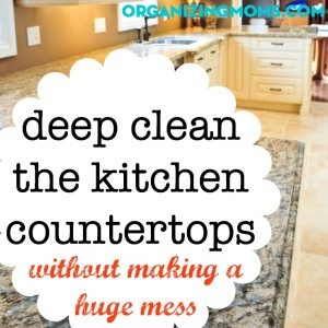 How to clean your kitchen countertops like a pro.