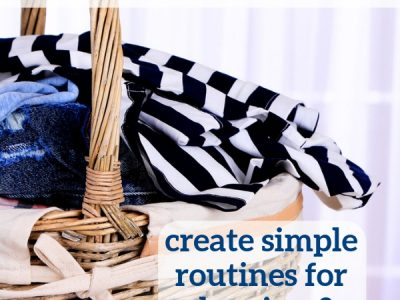 Create simple routines for cleaning, decluttering and organizing with the FlyLady method. This post outlines how to get started!
