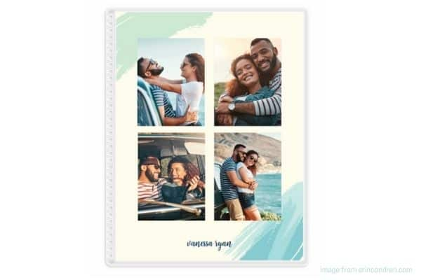 custom photo cover with four pictures from erin condren planner