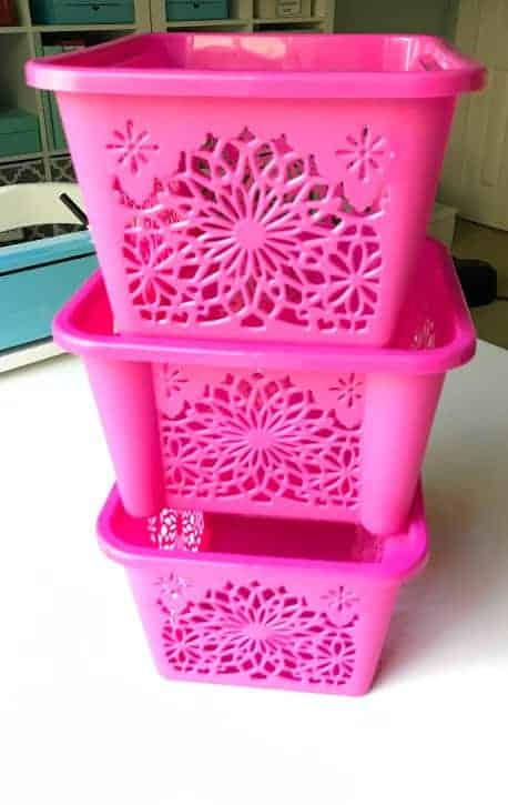 Adorable patterned storage baskets on the cheap