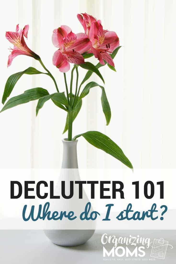 How to start decluttering when you have no idea where to begin. Tons of realistic tips to help you know where to start decluttering and banish clutter from your home.