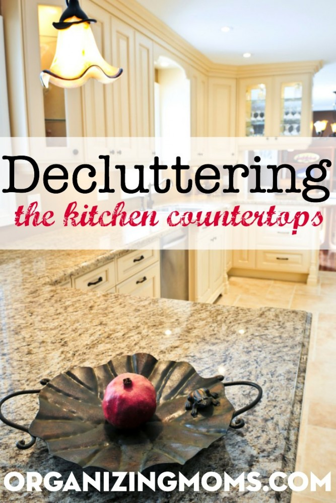 How decluttering the kitchen countertops can clear out a lot of space in your home.